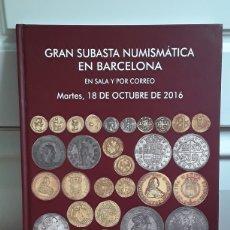 Catálogos e Livros de Moedas: CATALOGO SUBASTA DE MARTI HERVERA,SOLER Y LLACH Y SEGARRA. OCTUBRE 2016.. Lote 214914912