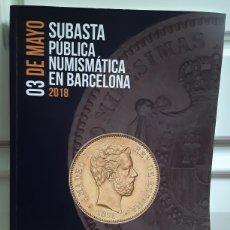 Catálogos e Livros de Moedas: CATALOGO SUBASTA DE MARTI HERVERA Y SOLER Y LLACH. MAYO 2018.. Lote 214916112
