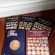 Cataloghi e Libri di Monete: 5 CATALOGOS SUBASTA DE MARTI HERVERA Y SOLER Y LLACH. AÑO 2017.. Lote 215003427