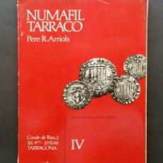 Catálogos y Libros de Monedas: A607.- SUBASTA NUMISMATICA.- 13 DE NOVIEMBRE DE 1976.- NUMAFIL TARRACO.- PERE R. ARRIOLS. Lote 215176281