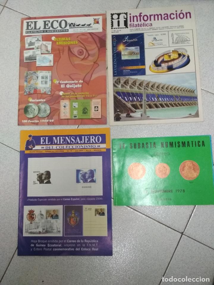 Catálogos y Libros de Monedas: LOTE 41 CATALOGOS SUBASTAS AÑOS 70/80 Y REVISTAS NUMISMATICA 2004/2005. VARIOS. - Foto 3 - 215629263