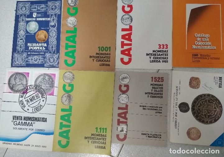 Catálogos y Libros de Monedas: LOTE 41 CATALOGOS SUBASTAS AÑOS 70/80 Y REVISTAS NUMISMATICA 2004/2005. VARIOS. - Foto 4 - 215629263