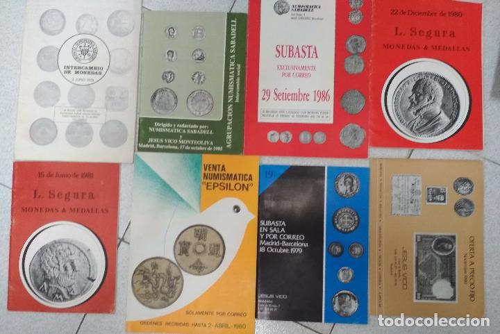 Catálogos y Libros de Monedas: LOTE 41 CATALOGOS SUBASTAS AÑOS 70/80 Y REVISTAS NUMISMATICA 2004/2005. VARIOS. - Foto 6 - 215629263