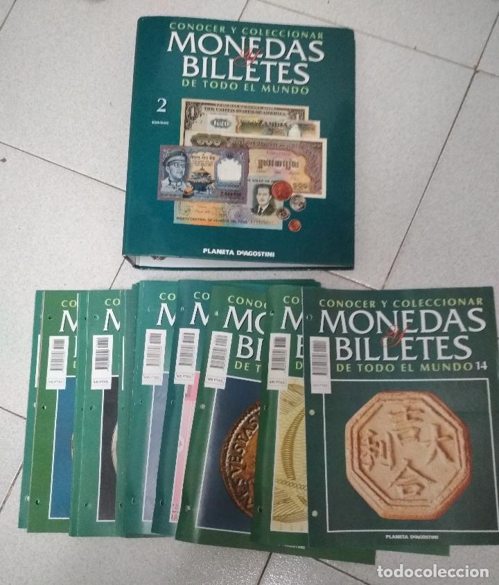 CONOCER Y COLECCIONAR MONEDAS Y BILLETES. 38 FASCICULOS VARIOS + TAPAS VOLUMEN 2 (Numismática - Catálogos y Libros)