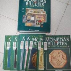 Catálogos y Libros de Monedas: CONOCER Y COLECCIONAR MONEDAS Y BILLETES. 38 FASCICULOS VARIOS + TAPAS VOLUMEN 2. Lote 215647878
