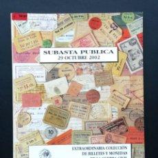 Catálogos y Libros de Monedas: A604.- SUBASTA NUMISMATICA - AUREO - 29 DE OCUBRE DE 2002 -COLECCION MONEDAS Y BILLETES GUERRA CIVIL. Lote 216536140