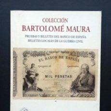 Catálogos y Libros de Monedas: A605.- AUREO - 14 DE NOVIEMBRE DE 2001.- BILLETES DEL BANCO DE ESPAÑA Y LOCALES DE LA GUERRA CIVIL. Lote 216583926
