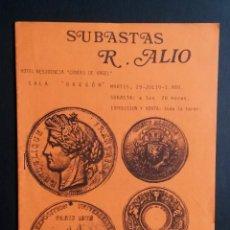 Catálogos y Libros de Monedas: A448.- SUBASTAS R. ALIÓ.- LÉRIDA.- MARTES 29 DE JULIO 1980. Lote 216790662