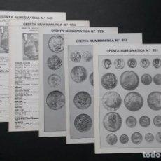 Catálogos y Libros de Monedas: A451.- FILATELIA LLACH.- OFERTA NUMISMATICA Nº 531 - 532 - 533 - 534 - 543. Lote 216791613