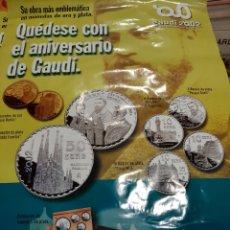 Catálogos y Libros de Monedas: GRAN CARTEL MONEDAS GAUDI 2002 FNMT COLECCION MONEDAS. Lote 218197972