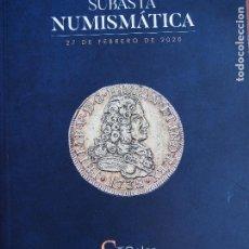 Catálogos y Libros de Monedas: SOLER Y LLACH CATÁLOGO 27/2/2020 MONEDA ANTIGUA, MEDIEVAL Y MODERNA Y BILLETES.. Lote 218528613