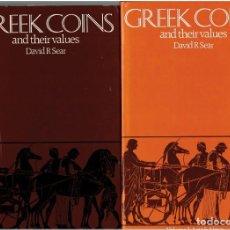 Catálogos y Libros de Monedas: GREEK COINS AND THEIR VALUES - DAVID R . SEAR. Lote 218674697