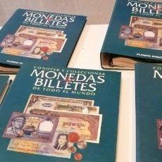 Catálogos y Libros de Monedas: TRAST CONOCER Y COLECCIONAR MONEDAS Y BILLETES DE TODO EL MUNDO. PLANETA DE AGOSTINI. 5 ARCHIVADORES. Lote 219234292