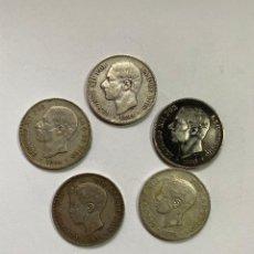 Catálogos y Libros de Monedas: MONEDAS PLATA 900 ALFONSO XIII. Lote 222293602
