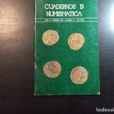 Catálogos y Libros de Monedas: CUADERNO DE NUMISMÁTICA. AÑO II. FEBRERO 1980. NÚMERO 21. Lote 222852047
