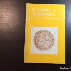 Catálogos y Libros de Monedas: CUADERNO DE NUMISMÁTICA. AÑO III.MAYO-JUNIO 1980. NÚMERO 24-25. Lote 222852155