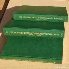 "Cataloghi e Libri di Monete: CATALOGO MONEDAS COOPERATIVAS CATALANAS""LES MONEDES DE LES COOPERATIVES CATALANES"" 3 TOMOS. COMPLETO. Lote 224754136"