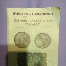 Catálogos y Libros de Monedas: CATÁLOGO MONEDAS SUIZAS 2002. Lote 225839250