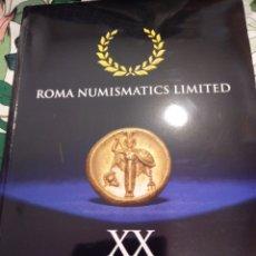 Catalogues et Livres de Monnaies: CATALOGO SUBASTA 29.30 OCT 2020 ROMA NUMISMATIC. Lote 226819075