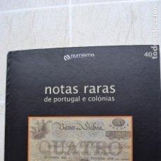 Catalogues et Livres de Monnaies: 1999 CATÁLOGO CAPA DURA SUBASTAS NUMISMA - NOTAS RARAS DE POTUGAL Y COLÓNIAS. Lote 235960225