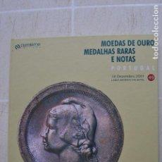 Catálogos e Livros de Moedas: 2001 CATÁLOGO CAPA DURA SUBASTAS NUMISMA - MONEDAS DE ORO , MEDALLAS RARAS Y NOTAS. Lote 235960575