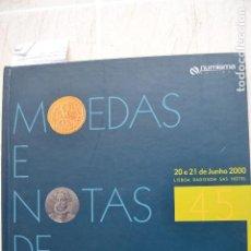 Catálogos e Livros de Moedas: 2000 CATÁLOGO CAPA DURA SUBASTAS NUMISMA - MONEDAS Y NOTAS DE PORTUGAL. Lote 235961225