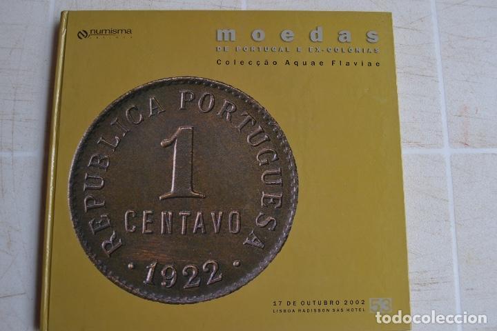2002 CATÁLOGO CAPA DURA SUBASTAS NUMISMA - MONEDA DE PORTUGAL Y EX COLÓNIAS (Numismática - Catálogos y Libros)