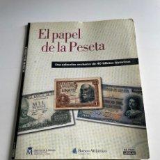 Catálogos y Libros de Monedas: EL PAPEL DE LA PESETA. Lote 242007605