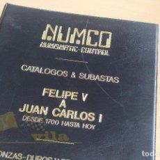 Catálogos y Libros de Monedas: NUMCO - FELIPE V A JUAN CARLOS I - DESDE 1700 A 1980. Lote 242948855