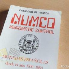 Catálogos y Libros de Monedas: NUMCO - FELIPE V A JUN CARLOS I - DESDE 1700 A 1983. Lote 242949150