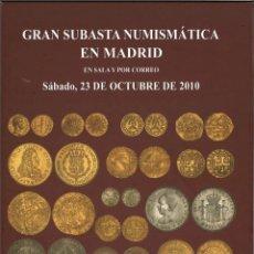 Catálogos y Libros de Monedas: SUBASTA NUMISMÁTICA MARTÍ HERVERA, OCTUBRE 2010. Lote 245931380