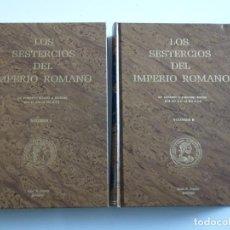 Catálogos y Libros de Monedas: LOS SESTERCIOS DEL IMPERIO ROMANO. VOLUMEN I Y II. JUAN R. CAYÓN. Lote 246541970