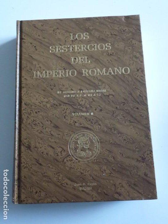 Catálogos y Libros de Monedas: Los sestercios del Imperio Romano. Volumen I y II. Juan R. Cayón - Foto 6 - 246541970