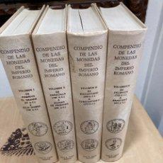 Catalogues et Livres de Monnaies: COMPENDIO DE LA MONEDA ROMANA, CAYON, LOS 4 VOLUMENES. Lote 249473335