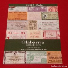 Catálogos y Libros de Monedas: CATALOGO AUREO & CALICO 2019 -COLECCION OLABARRIA. Lote 251171540