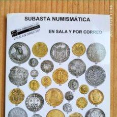 Catálogos y Libros de Monedas: CATÁLOGO DE SUBASTA NUMISMÁTICA. ÁUREO Y CALICÓ. Lote 253748335