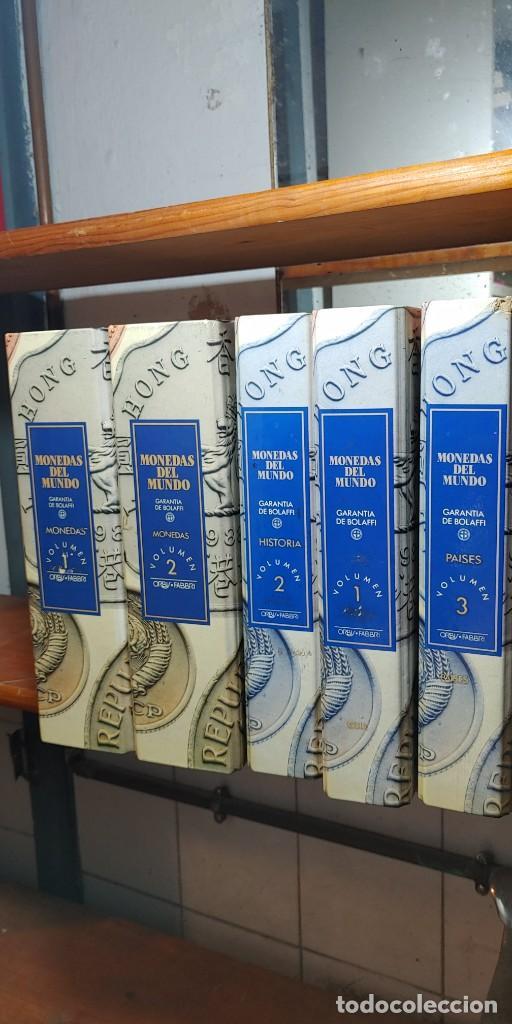 5 LIBROS DE COLECCIÓN MONEDAS DEL MUNDO DE ORBIS-FABBRI, PYMY TC (Numismática - Catálogos y Libros)
