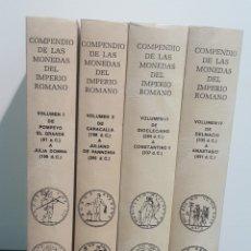 Catálogos y Libros de Monedas: COMPENDIO DE LA MONEDA ROMANA 4 TOMOS NUEVOS. Lote 257708340