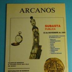 Catálogos y Libros de Monedas: ARCANOS. SUBASTA. JOSÉ Mª ALEDÓN. NOVIEMBRE 1989. Lote 261915250