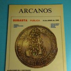 Catálogos y Libros de Monedas: ARCANOS. SUBASTA. JOSÉ Mª ALEDÓN. JUNIO 1990. Lote 261915605