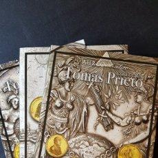 Catálogos e Livros de Moedas: AUREO CALICÓ 3 CATÁLOGOS SUBASTAS MEDALLAS TOMÁS PRIETO VOLS. 1, 2 Y 3. Lote 202906328
