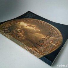 Catálogos e Livros de Moedas: TESOROS DEL GABINETE NUMISMÁTICO. LAS 100 MEJORES PIEZAS DEL MONETARIO DEL MUSEO ARQUEOLÓGICO NACION. Lote 271708048