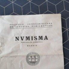 Catálogos y Libros de Monedas: NVMISMA SOCIEDAD IBEROAMERICANA DE ESTUDIOS NUMISMATICOS ENERO DICIEMBRE 1984Nº186-191 MADRID. Lote 275516213