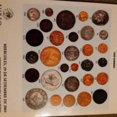 Catálogos y Libros de Monedas: CATALOGO SUBASTA NUMISMATICA. Lote 276096448