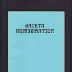 Catálogos y Libros de Monedas: GACETA NUMISMATICA - Nº 83 / IV-86 - DICIEMBRE 1986. Lote 277586408
