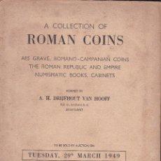 Catálogos y Libros de Monedas: A COLLECTION OF ROMAN COINS - SOLD AUCTION MARCH 1949. Lote 277614123