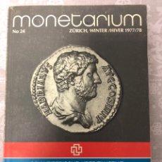 Catálogos y Libros de Monedas: MONETARIUM. LIBRO. AÑO 1977 / 1978. NUMISMATICA. Lote 286576433