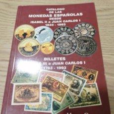 Catálogos y Libros de Monedas: CATÁLOGO HERMANOS GUERRA 1993 - MONEDAS Y BILLETES DE ESPAÑA - SEMI NUEVO. Lote 287837588