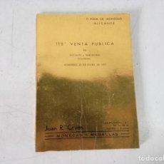 Cataloghi e Libri di Monete: CATÁLOGO CON PRECIOS DE MONEDAS Y MEDALLAS O LIBRO DE VENTA PÚBLICA, 1977. Lote 293301778
