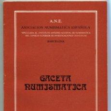 Catálogos y Libros de Monedas: GACETA NUMISMATICA NUMERO 66 AÑO 1982 ( CAT57 ). Lote 295552758